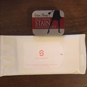 Accessories - New | wine away stain emergency kit & chic sheets
